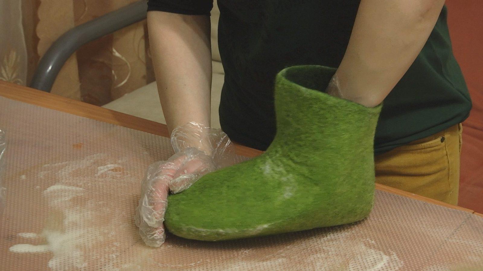 Валяная обувь своими руками 9