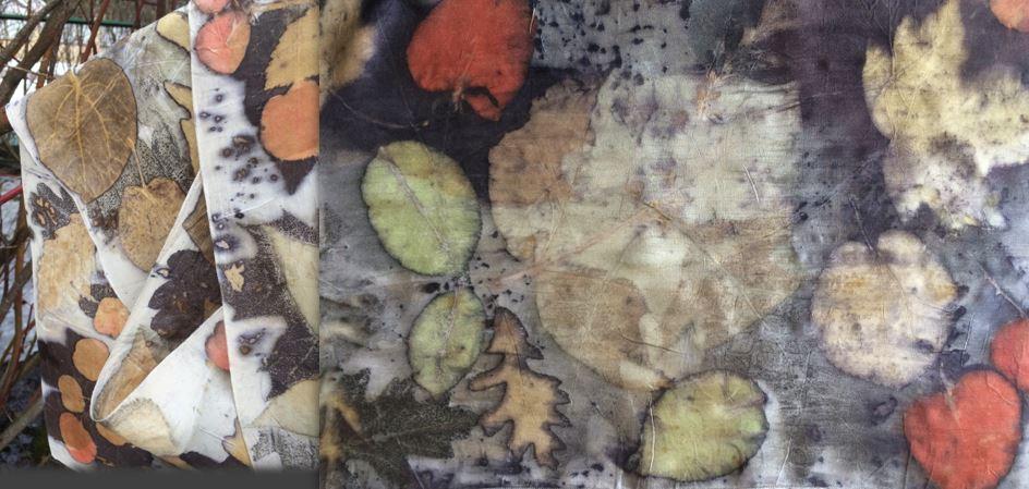 """Дина Ронина. """"Контактное ботаническое крашение и медиум-принт: проверенные технические и композиционные приёмы"""""""
