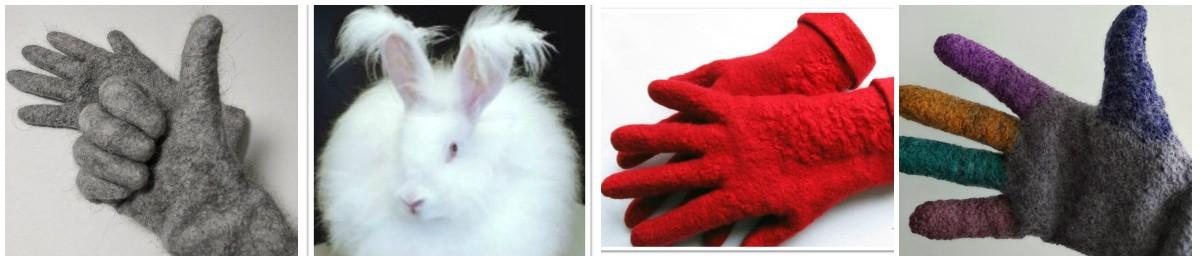 Елена Найденова. Перчатки с пухом ангорского кролика